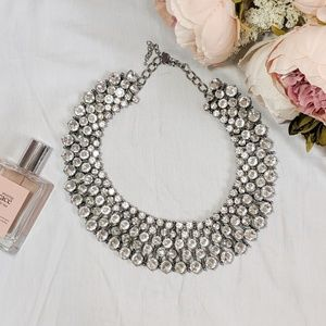 Express Rhinestone Collar Statement Necklace
